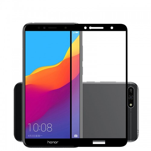 Huawei Y6 2018 - Tempered Glass FS Full Body Anti Gores Kaca Premium / Full Bahan Kaca Full Lem