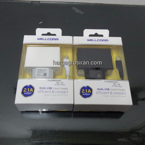 TC Charger / Batok Adaptor USB 2 Output - 2 Ampere / WellComm STHRG