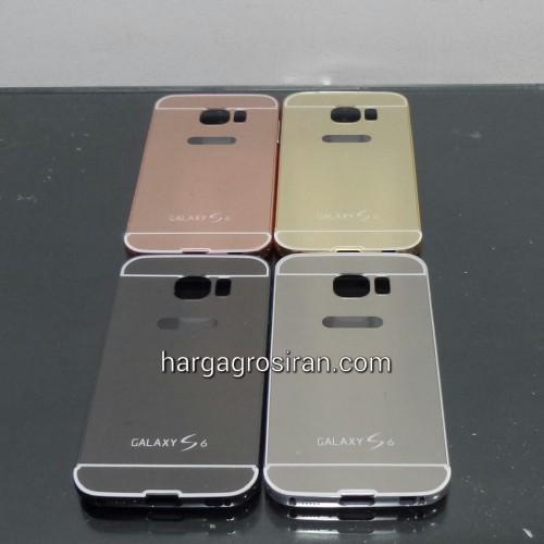 Bumper Mirror Samsung Galaxy S6 - Bumper Kaca Plus Tutup Cover Belakang