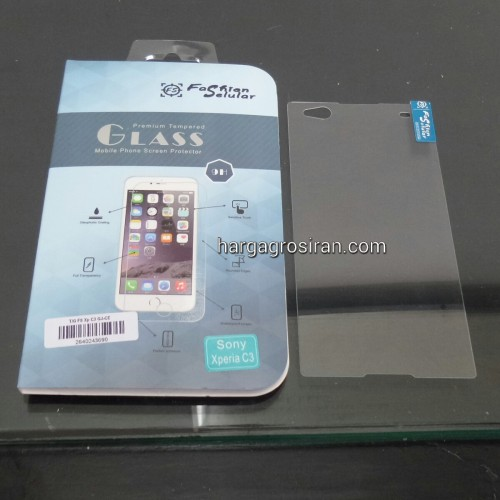 Tempered Glass FS Sony Xperia C3 / Anti Gores Kaca