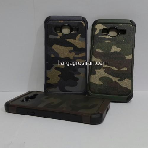 Slim Army Samsung Galaxy J3 - Back Case / Cover Armor / Loleng TNI / Abri / Brimob / Tentara