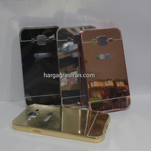 Bumper Mirror Samsung Galaxy J5 2015 - Bumper Kaca Plus Tutup Cover Belakang