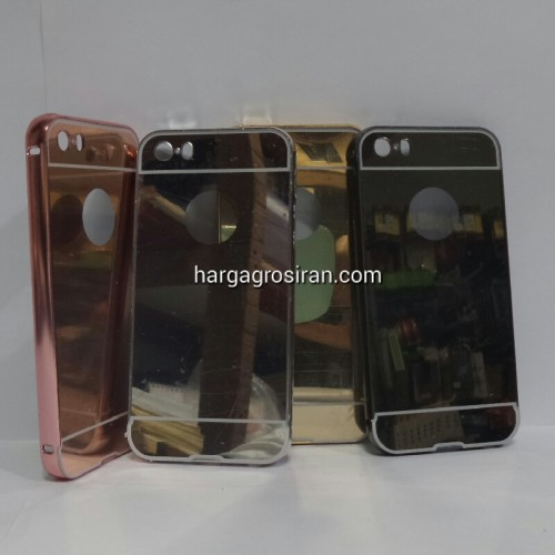 Bumper Mirror Iphone 5 / 5s - Bumper Kaca Plus Tutup Cover Belakang