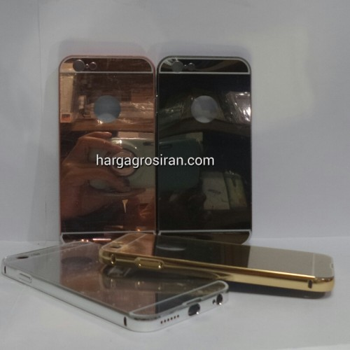 Bumper Mirror Iphone 6 / 6s / Bumper Kaca Plus Tutup Cover Belakang