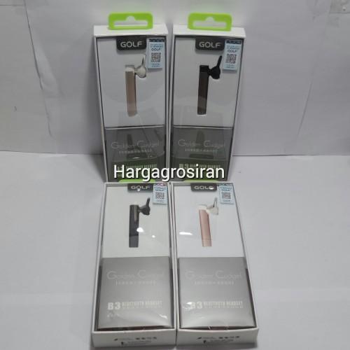 Earphone Bluetooth Golf Golden Cudgel B3 / Handsfree Bluetooth Golf B3/ Headset Garansi STHRG