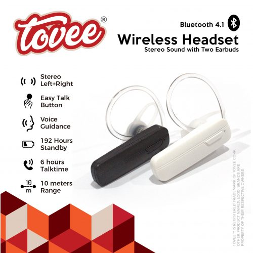 Tovee™ Wireless Headset Stereo Sound
