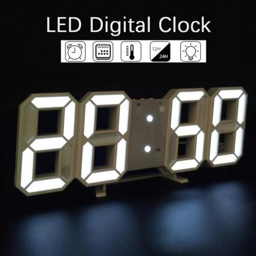 JD-01 SOHA Jam 3D Digital Dinding Meja Tembok Lampu LED Light clock Wall Dekorasi Minimalis Modern & unik