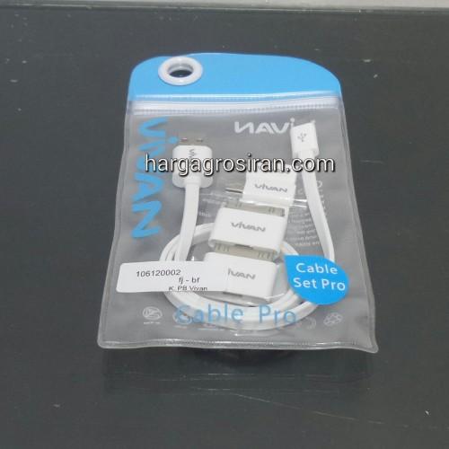 Kabel Charger Vivan Set Buat Power Bank + Konektor Iphone 5