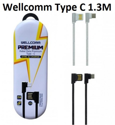Kabel Data Gaming Type C 130cm 2A Kabel Charger Type C Wellcomm Premium