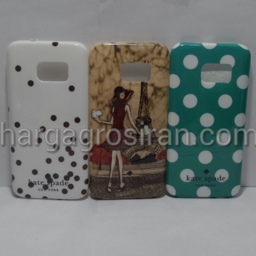 Kate Spade Samsung S7 Flat - Softshell / Silikon Motif / Back Case / Cover