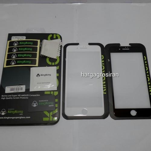 KingKong Iphone 7G Plus / Full Layar / Curved Apple Tempered Glass Anti Gores Kaca
