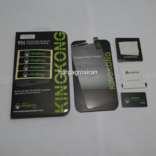 KingKong Asus Zenfone 3 5.2 Inch ZE520KL - Tempered Glass Anti Gores Kaca / Glass Sceen Protector