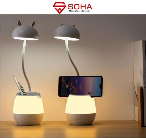 LP-03 Desk Mini Lampu Meja Baca BELAJAR ANAK Kamar Tidur Lamp LED Bedsite Flexible Portable USB Hias Fitting Nakas