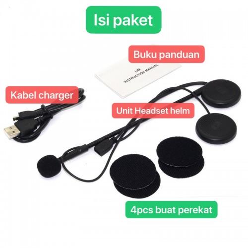 L1M Motorcycle Helmet Wireless Bluetooh Headphone Stereo Music / Headset Bluetooth Helm - STRDY