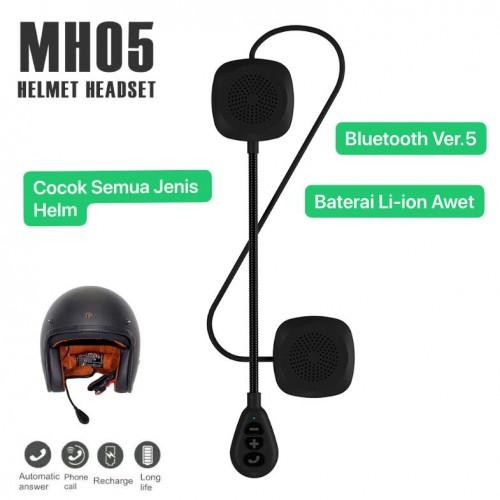 MH05 Helm Motor Headset Bluetooth Ver 5.0 / Motorcycle Stereo Music Handsfree Wireless / Helmet Earphone / Headphone Mendukung Berbagai Jenis Helm
