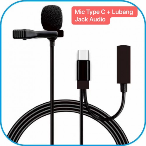 MIC-012 SOHA Mic Pro Khusus Android Type C Live Streaming Smule IG Youtuber Presentasi Lavalier Microphone Clip Kondensor