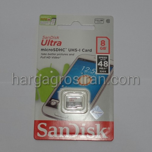 Memory MicroSD SanDisk Ultra 8GB Class 10 Speed Up To 48MB/S