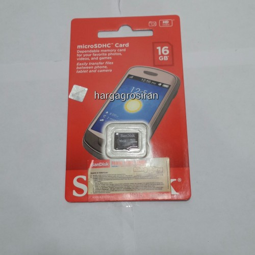 Memory SanDisk MicroSD 16GB - Class 4