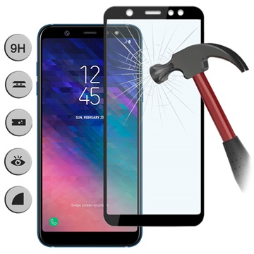 Samsung A6 2018 Tempered Glass FS / Full Body / Anti Gores Kaca Premium / Full Bahan Kaca Full Lem