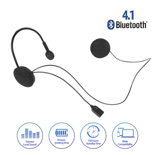 Motorcycle Helmet Wireless Bluetooh Headphone Stereo Music / Headset Bluetooth Helm Type MH02 STRDY