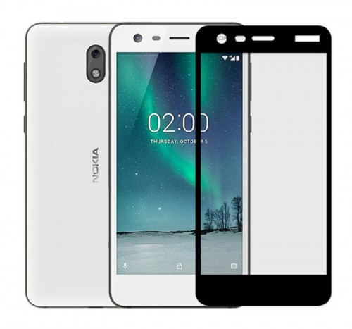 Nokia 2 -  Tempered Glass Full Body Anti Gores Kaca Premium / Full Bahan Kaca Full Lem