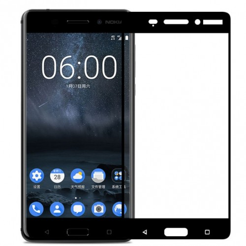 Nokia 6 -  Tempered Glass Full Body Anti Gores Kaca Premium / Full Bahan Kaca Full Lem