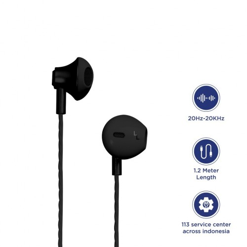 Earphone MD-E3 / Headset Premium Suara Music Jernih dan Bass ada Mic Telepon Handfree Kualitas Bagus