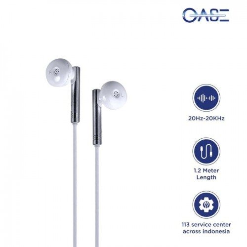OASE Earphone MD-M5 Original 100% Creative Smart, Easy Life - Putih