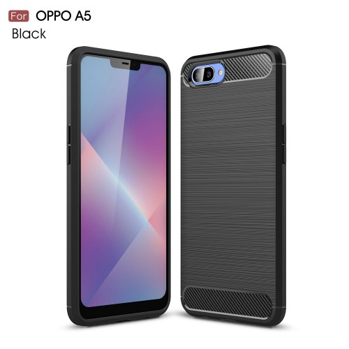 OPPO A3S - Rugged FS / Delkin - Carbon Fibre Case Slim Rugged Armor ShockProof / Rubber