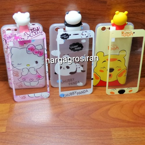 Oppo A71 - Peep Case 360 + Tempered Glass Motif / Silikon Ngitip 3D Cartoon / Softshell Motif