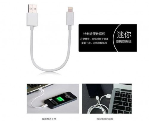 Original 100% Capdase Kabel Data Iphone Bisa Sync and Charge Lightning Cable 18cm