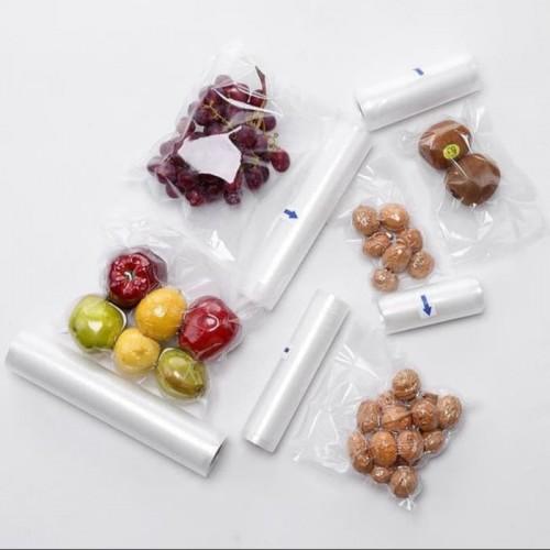 PVM-002 20cm * 600cm Plastik Emboss Vacum Makanan Roll 6 Meter / Vacuum food Sealer Plastic Bag Embossed food grade Vakum Penyimpan Makanan Refill