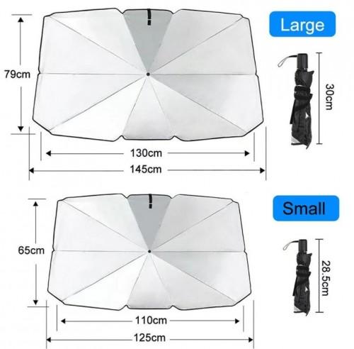 PY-01 Ukuran Kecil Pelindung Anti Panas Kaca Mobil Depan Dashboard Sinar UV MATAHARI Payung Lipat / Penutup Kaca Mobil CAR Cover Sun Shield Umbrella