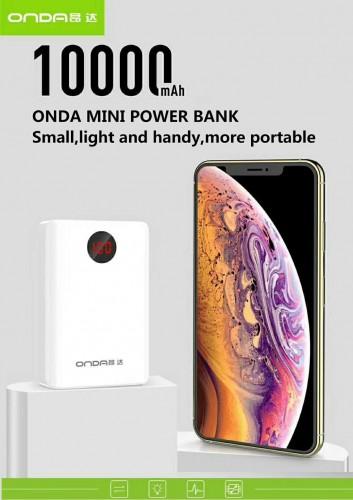 Power Bank Onda N-12 10.000 Mah - Design Mini Size 3 Output Fast Charging 2.1A