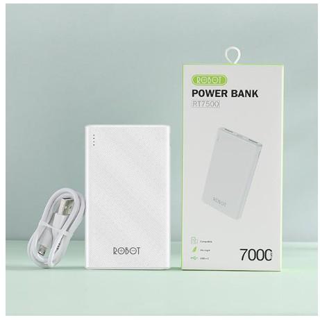 Power Bank Robot RT7500 7.500 Mah - Garansi Setahun