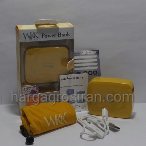 Power Bank WKK 6.600mah - Tipe W-088 Garansi 1 Tahun - Orange