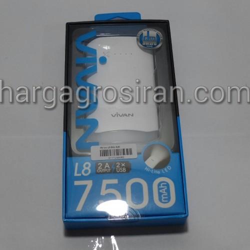 Powerbank Vivan L8 8.000 Mah Hi-Lite LED