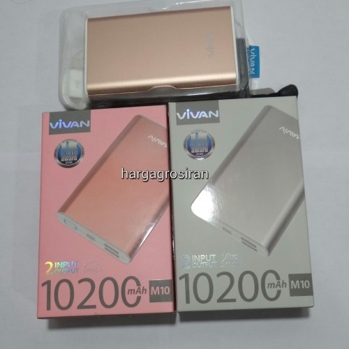 Powerbank Vivan M10 10.200 Mah - Body Desain Ultra Small But High Capacity