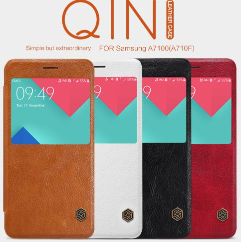 Sarung Nillkin QIN Leather Case Samsung A7 2016 / A710
