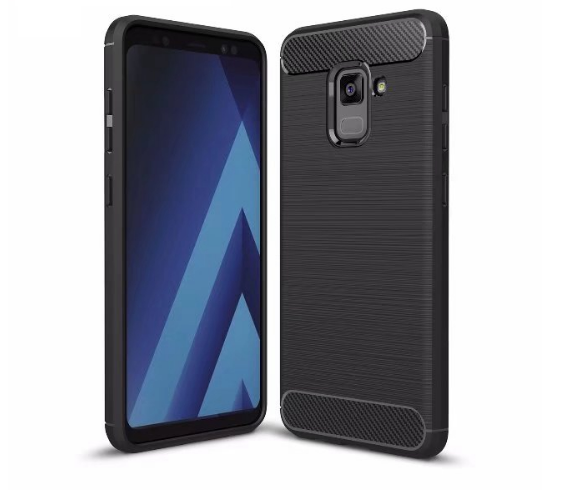 Samsung A8 Plus 2018 - Rugged FS / Delkin - Carbon Fibre Case Slim Rugged Armor ShockProof / Rubber