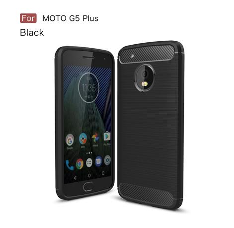 Motorola G5 Plus - Rugged FS / Delkin - Carbon Fibre Case Slim Rugged Armor ShockProof / Rubber