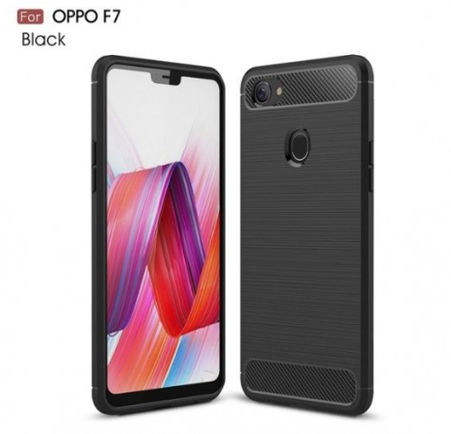 Oppo F7 - Rugged FS / Delkin - Carbon Fibre Case Slim Rugged Armor ShockProof / Rubber