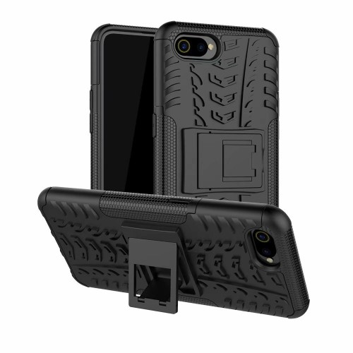 Realme C2 / Oppo A1K - Rugged Armor Stand / Hybrid / Dazzle Cover / Shockproof