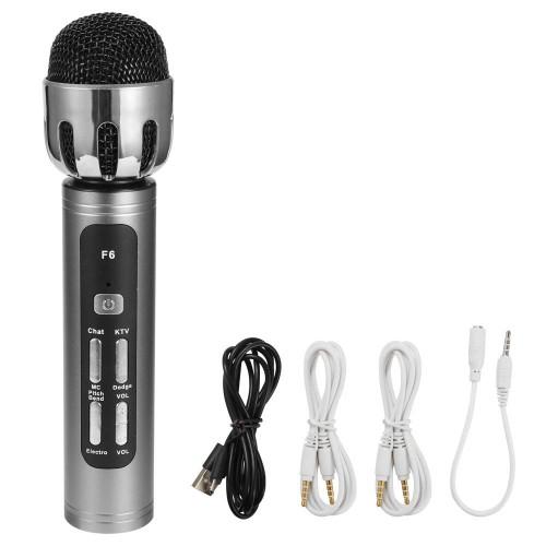 MIC-006 Sound Card Mic Mikrofon Siaran Langsung Bernyanyi Smule / Game / Karaoke Bluetooth Wireless