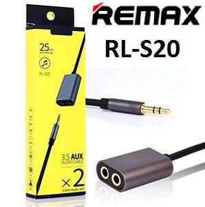 Kabel Audio / 3.5 AUX Remax Tipe RL-S20 - 2x Audio Jack / Audio Sharing