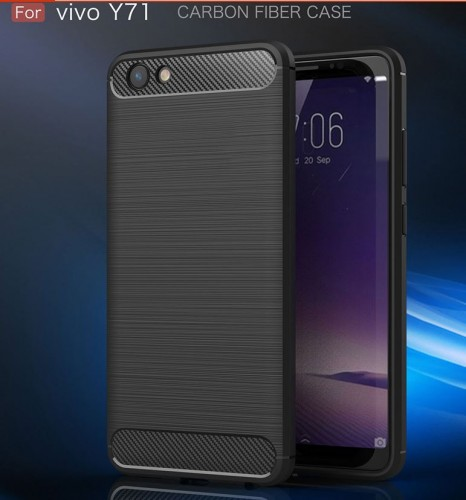 Vivo Y71 - Rugged FS / Delkin - Carbon Fibre Case Slim Rugged Armor ShockProof / Rubber