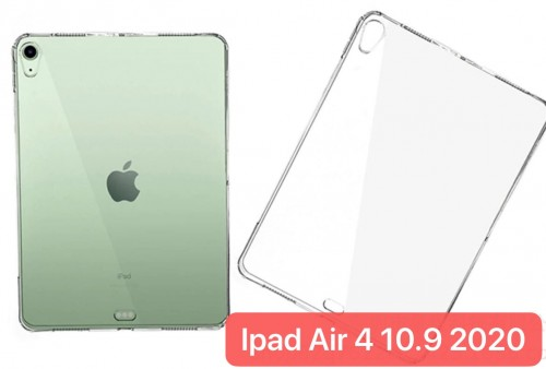 SBT-001 New Ipad Air 4 2020 10.9 Inch Soft Back Case / Tablet Silikon Bening Clear Transparant Cover Anti Shock Absorption