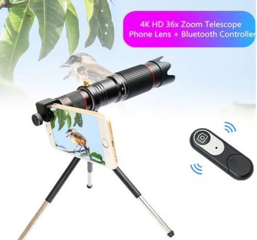 SOHA LNZ-002 Lensa HP 36X Optical Zoom 4K HD Telescope Camera Lens Telephoto Monocular Mobile Phone / Teropong