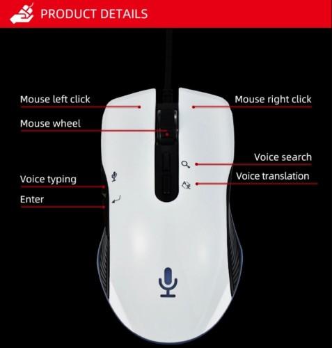 SOHA MOS-006 Gaming Mouse Smart AI Dengan Fitur Intelligent Bisa Translate Ketik Via Suara / Voice