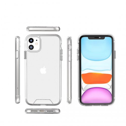 SPACE Iphone XI Max 6.5 Military Drop Resistance HIGH Quality Cover / Clear Transparan Jernih Awet